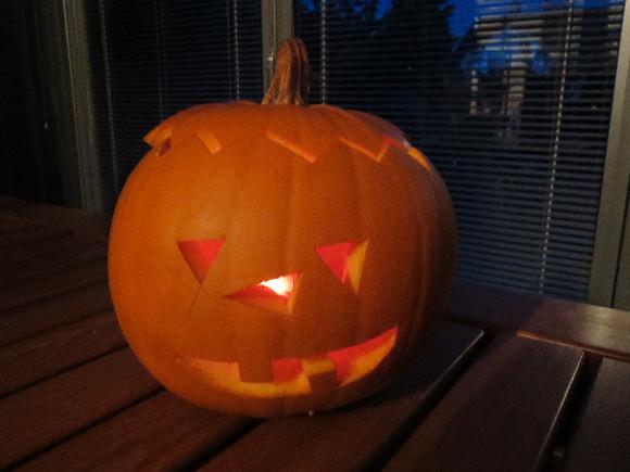 Dýně na Halloween.