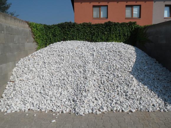 Lomový kámen - čistě bílý 32/63