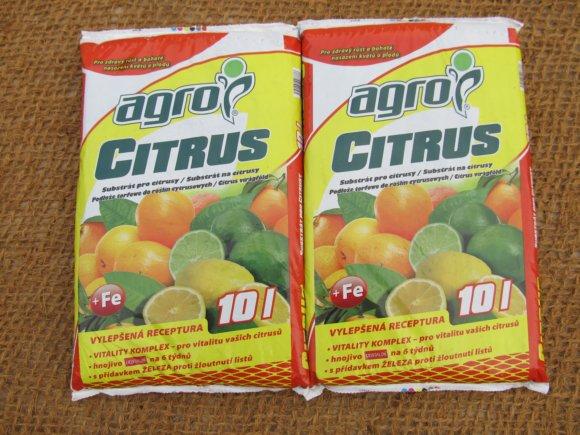 Substrát pro citrusy