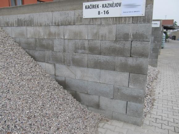 Kačírek Kaznějov - bílo-šedý, praný. Frakce 8-16mm.